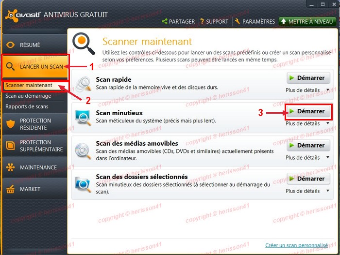 Avast! Free Antivirus 7.0.1456 Screenshot.
